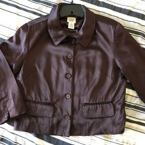 GAP women's brown satin finish jacket 8